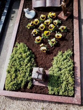 Grab bepflanzt