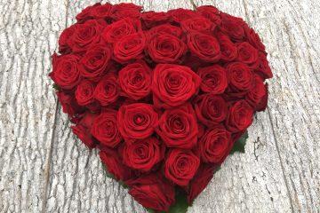 Herz aus roten Rosen